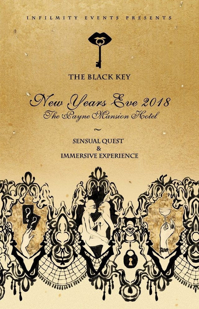 The Black Key - Infilmity Events - Anya Bay - Snowbound - Sensual Quest - Immersive Party